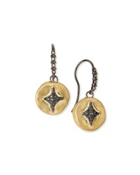 Armenta Old World Midnight Disc Drop Earrings Gold