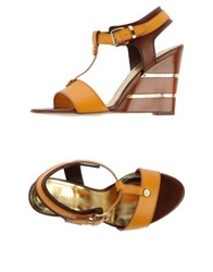 Loretta Pettinari Sandals Ocher
