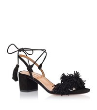 Aquazzura Wild Thing Fringe Sandals 50 Female Black