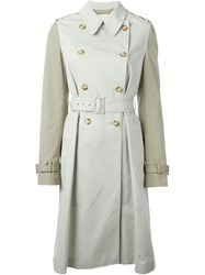 Stella Mccartney 'Tania' Trench Coat Nude And Neutrals