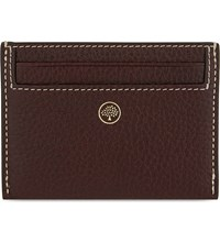 Mulberry Classic Grained Leather Credit Card Holder Oxblood