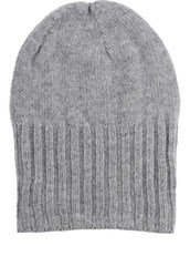 Barneys New York Men's Wide Cuff Wool Cashmere Hat Light Grey