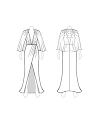 Customize Switch To Short Cape Fame And Partners Bejewelled Short Cape Dress White