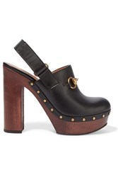 Gucci Amstel Horsebit Detailed Leather Clogs