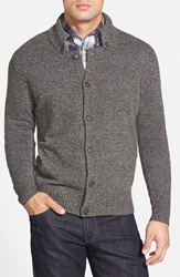 Maker Company Marled Button Front Cardigan Charcoal Heather