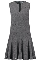 Cacharel Robe Jumper Dress Tempete Grey