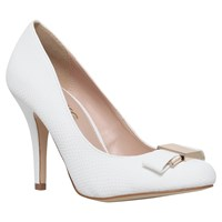 Miss Kg Steph Bow Detail Court Shoes White
