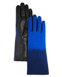 Echo Ombre Leather Tech Gloves Navy