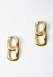 Missguided Gold Chain Link Earrings
