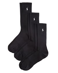 Polo Ralph Lauren Polo Sport Performance Crew Socks Pack Of 3 Black
