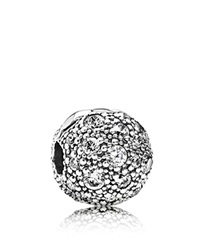 Pandora Design Pandora Clip Sterling Silver And Cubic Zirconia Cosmic Stars Moments Collection Silver Clear