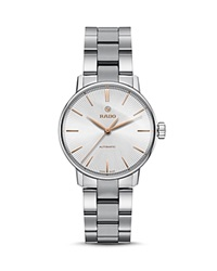 Rado Coupole Classic Automatic High Tech Ceramic And Stainless Steel Watch 32Mm Silver