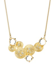 Gerard Yosca Metal Bib Necklace Gold