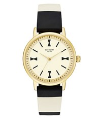 Kate Spade Crosby Black And White Silicone Strap Watch Ksw1037