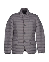 Geox Coats And Jackets Down Jackets Men Grey