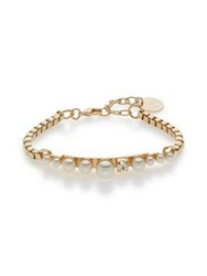 Anton Heunis Pearl Cluster Bracelet Gold Plated