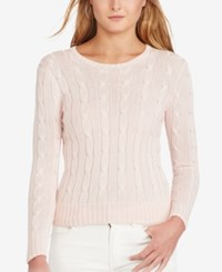 Polo Ralph Lauren Cable Knit Cotton Sweater Pink