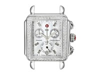 Michele Deco Diamond Diamond Dial Silver Steel Watch Head Silver Steel Analog Watches