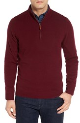 Nordstrom Men's Big And Tall Men's Shop Regular Fit Cashmere Quarter Zip Pullover Burgundy London