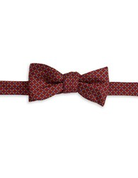 Brooks Brothers Dotted Silk Bow Tie Red