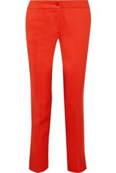 Etro Stretch Crepe Tapered Pants Tomato Red