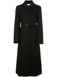 Red Valentino Belted Single Breasted Coat Black