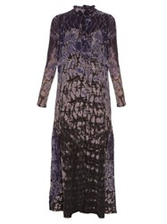 Raquel Allegra Silk Chiffon Tie Dye Maxi Dress