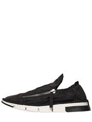 Cinzia Araia Washed Matte Leather Sneakers