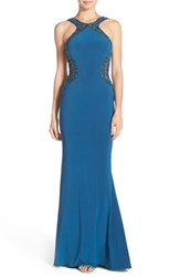 Women's Sean Collection Beaded Illusion Jersey Gown