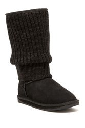 Australia Luxe Collective Fame Genuine Sheepskin Tall Boot Black
