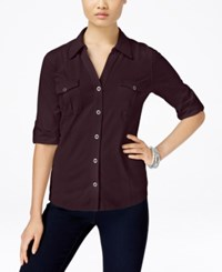 Styleandco. Style Co. Utility Shirt Only At Macy's Dried Plum