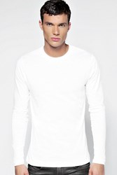 Boohoo Long Sleeve Crew Neck T Shirt White