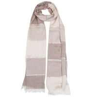 Dents Ladies Tonal Striped Woven Scarf Natural