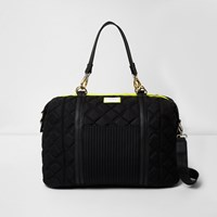 River Island Womens Black Quilted Sports Holdall Bag
