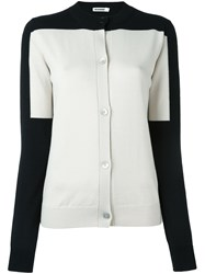 Jil Sander Colour Block Cardigan Black
