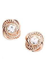 Women's Kate Spade New York 'Infinity And Beyond' Knot Earrings Clear Rose Gold