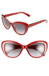 Women's Bobbi Brown 54Mm Cat Eye Sunglasses Burgundy
