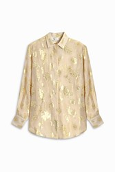 Paul And Joe Jacquard Lurex Shirt Beige
