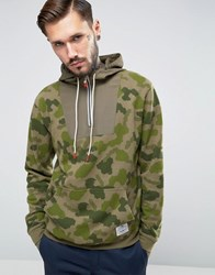 Poler Hoodie With All Over Camo Print Green Yellow