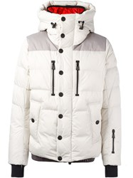 Moncler Grenoble Padded Hooded Jacket White