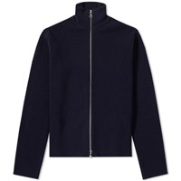 Officine Generale Merino Full Zip Cardigan Blue