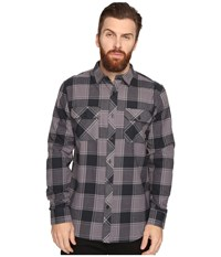Tavik Vincent Black Grey Men's Long Sleeve Button Up