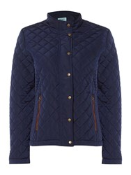 Dickins And Jones Quilted Jacket Navy