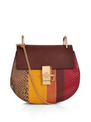 Chloe Drew Small Python And Leather Shoulder Bag