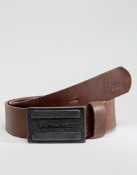 G Star Daber Leather Belt In Brown Brown