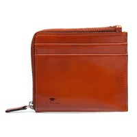 Il Bussetto Tan Brown Leather Zip Wallet