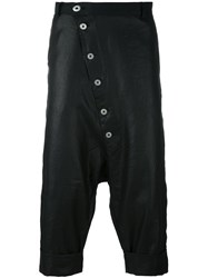 Alchemy Button Front Coated Pants Black