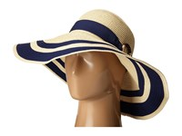 Lauren Ralph Lauren Paper Straw Bright Natural Sun Hat Natural Capri Navy Traditional Hats Beige