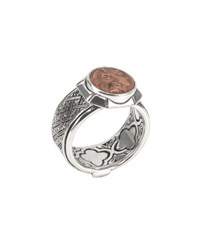 Konstantino Men's Aeolus Sterling Silver And Scylla Copper Coin Ring