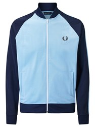 Fred Perry Sports Authentic Bomber Track Jacket Sky Blue